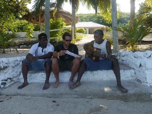 Guitar and singing on a Fijian Island