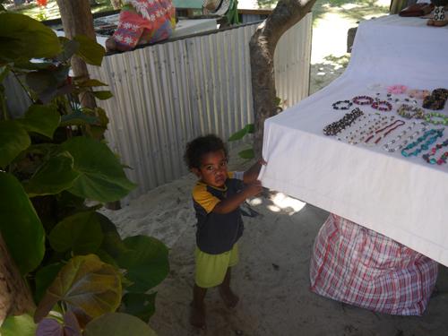 Fijian boy at Fijian market
