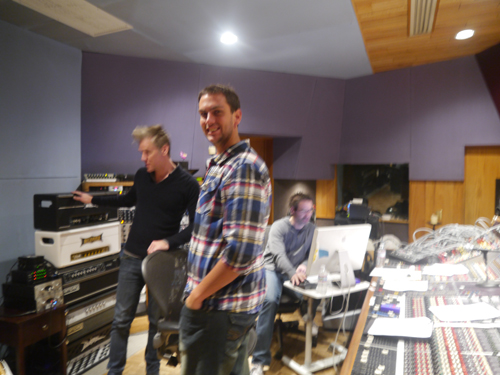 Ben and Kyle in the Studio