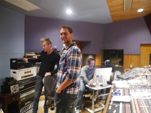 Ben and Kyle in the Studio