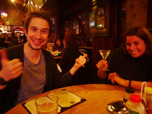 Friends in San Fransisco Drinking