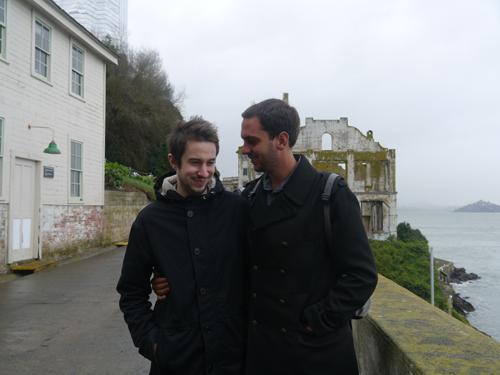 Ben and Steve at Alcatraz