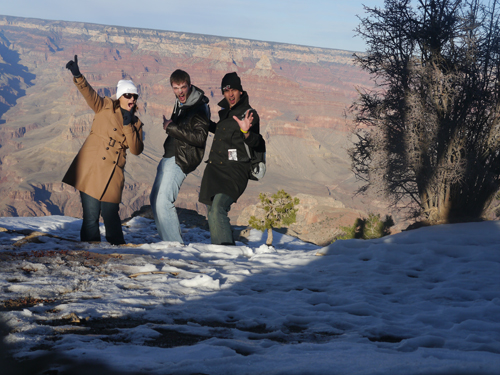 Ben & Col & Tam at the Grand Canyon in Arizona