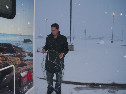 Ben dealing with Snow Chains