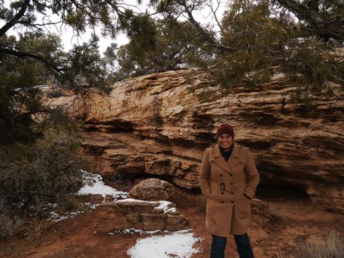 Tam in Canyon de Chelly