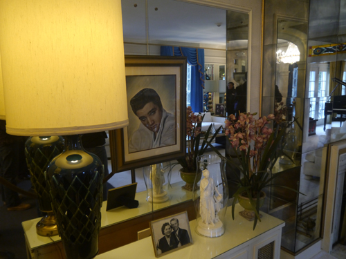 Portrait of Elvis in Graceland