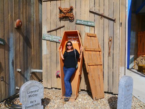 Tamara in a coffin