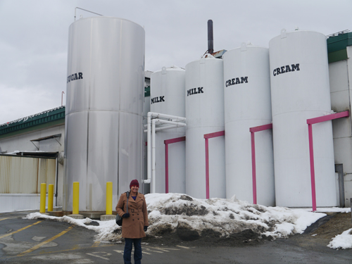 Tam outside the Ben and Jerry's factory in Vermont