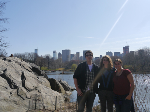 Ben, Amy and Tam in Central Park