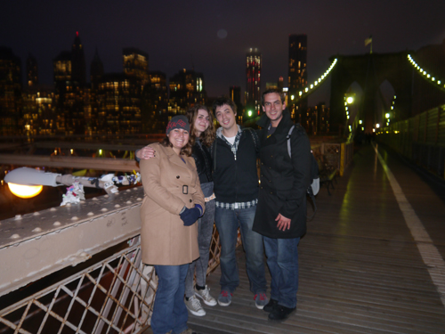 The four of us on the Brooklyn Bridge
