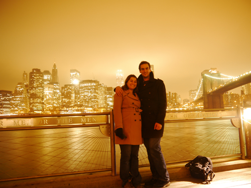 A beautiful shot of me and tam with NYC in the background taken from Brooklyn