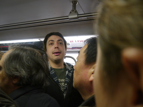 Ben enjoying the New York Subway