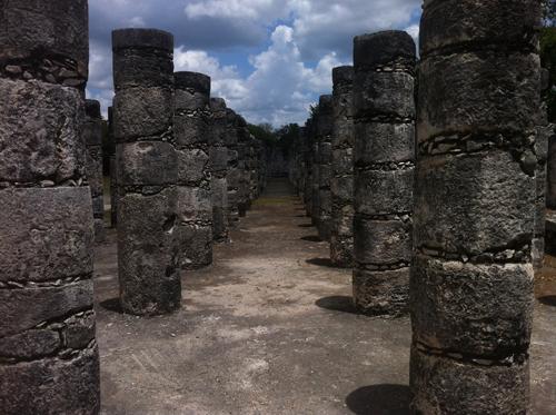 The Thousand Columns in Chichen Itza