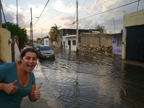 Flooding in Merida