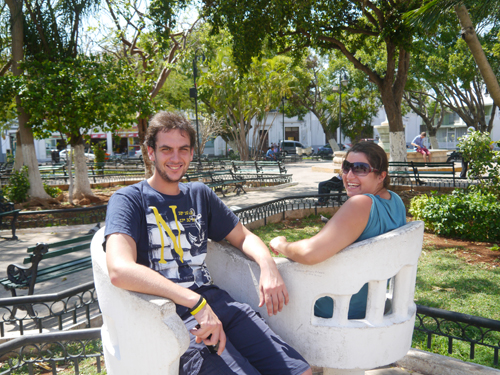 Me and tam on a love seat in Mexico