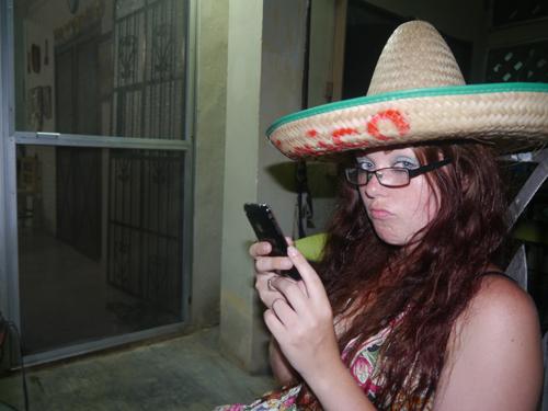 Julianne in a Sombrero