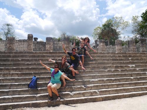 Tourists at Chichen Itza