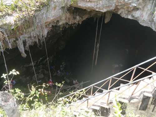 The entrance to a sinkhole in Cuzama
