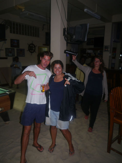 Tam and Jimmy in a Bar in Belize