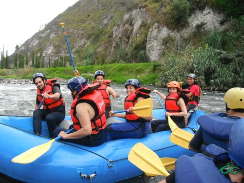 Rafting in Banos, Ecuador