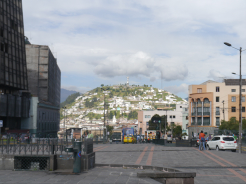 Beautiful views of the hills in Quito