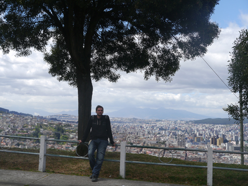 Ben with Quito in the Background