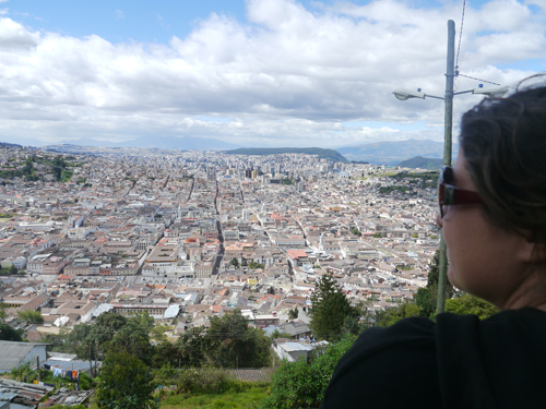 Tam enjoying the view
