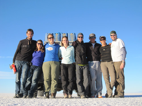 Our group on the Uyuni tour in Bolivia