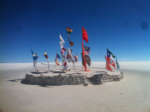 Flags in the Salt Flats
