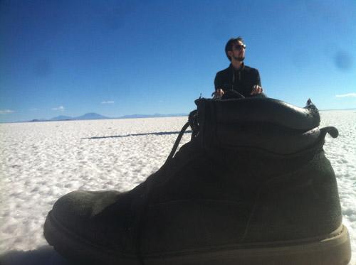 Ben in his own shoe