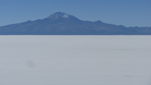 Mountains on the Salt Flats in Bolivia