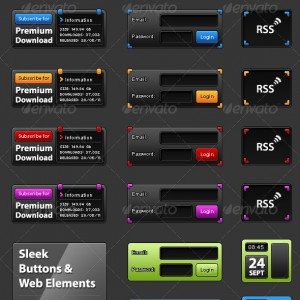 Dark Buttons and UI Elements