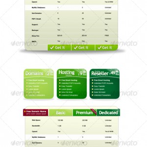 Web Hosting Pricing Table