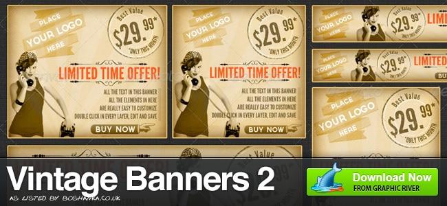 Vintage Banner Ads