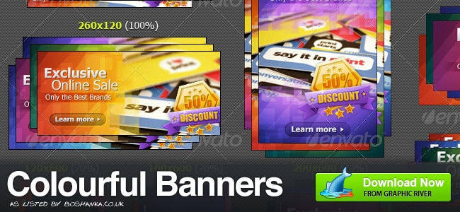 Colourful Banner Ads