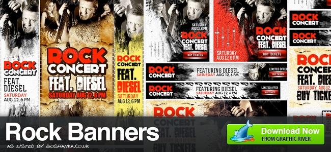 Rock Gig Banner Ads