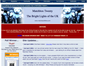 One of my first websites, hosted with Geocities