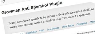 WP Growmap Anti Spambot Plugin