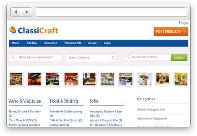 ClassiCraft Classified Ads Theme
