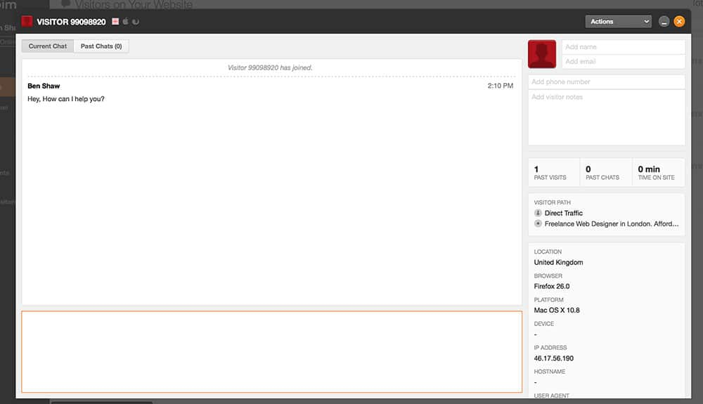 Zopim Live Chat Window