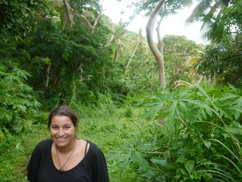 Fijian jungle hikking