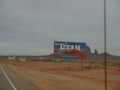 The Utah state line
