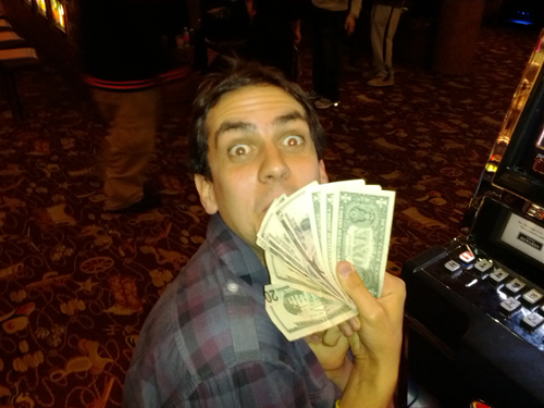Ben with lots of dollars!