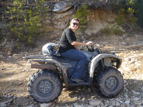 Tam and her Quad Bike