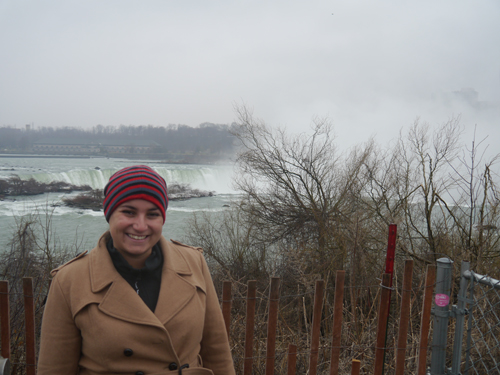 Tam and some trees and a little bit of Niagara (my bad)