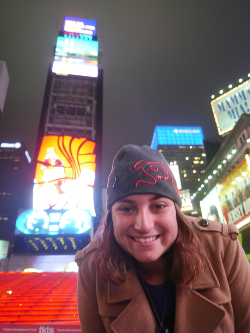 Tam in Times Square