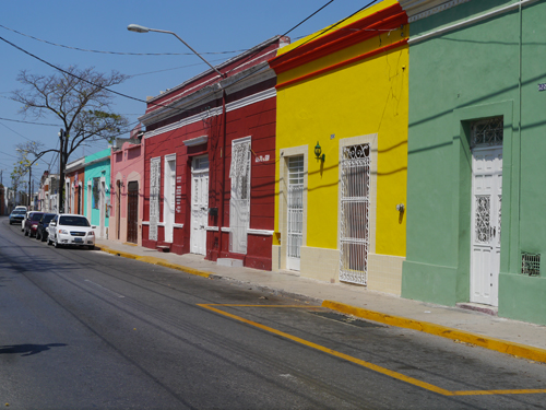 Colourful houses in Mexico