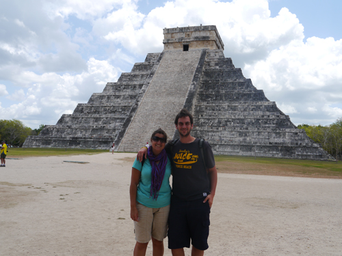 Ben and Tam infront of the Mayan Ruins