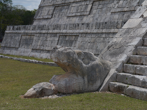 The head of the Snake - Chichen Itza