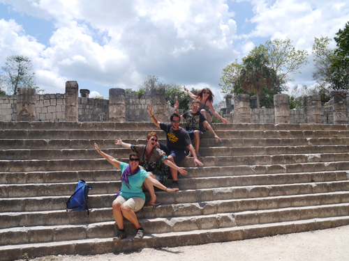 Tourists at Chichen Itza